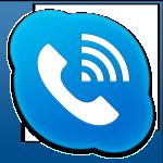 Skype Phone Alt Blue